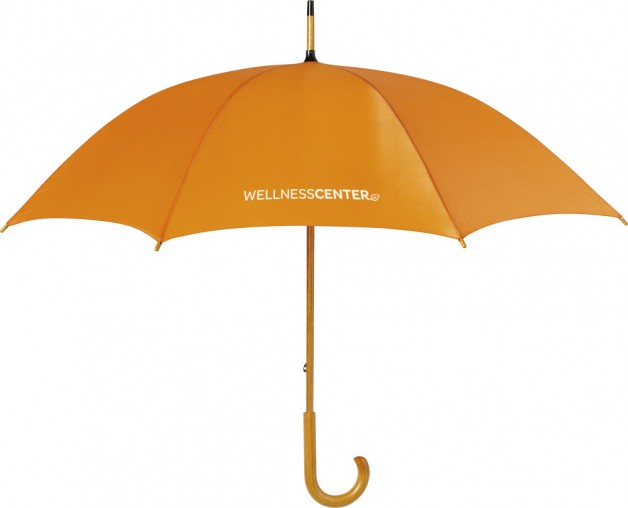 Paraplu met merknaam als relatiegeschenk