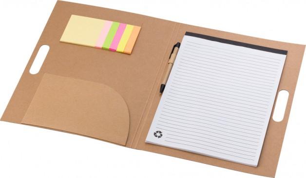 Professionele eco schrijfmap met post-its en pen