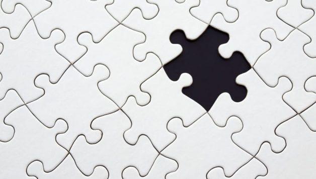puzzel met ontbrekend puzzelstuk als referentie voor de ideale klant