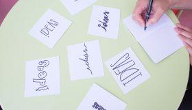 ideeën in verschillende lettertypes