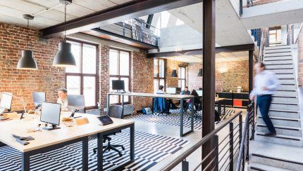 kantoor interieur rvs